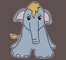 elephant cute animal Kids Clothes