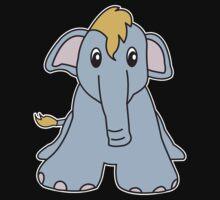 elephant cute animal One Piece - Short Sleeve