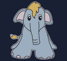elephant cute animal Kids Tee
