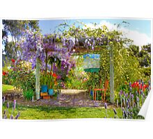 Spring is in the Air - Private Garden, Kanmantoo, Adelaide Hills, SA Poster