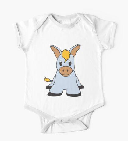 donkey cute animal One Piece - Short Sleeve