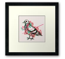 Party Pigeon Framed Print