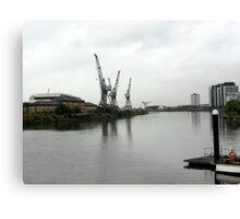clyde cranes Canvas Print