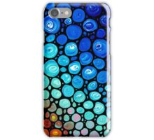 Abstract 2 - Colorful Blue Mosaic Abstract Art Print iPhone Case/Skin