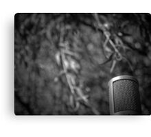 Music Nature: Microphone 2 Canvas Print