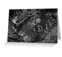 Music Nature: Fallen Leaves Greeting Card