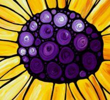 Basking In The Glory - Yellow Sunflower Blue Sky Art Print Sticker