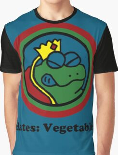 Hates: Vegetables Graphic T-Shirt