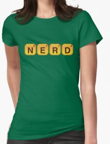 Words With NERD Womens Fitted T-Shirt