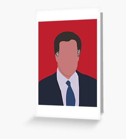 Mitt Romney Digital Illustration Portrait Greeting Card