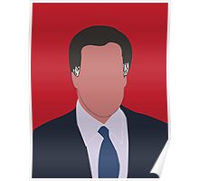 Mitt Romney Digital Illustration Portrait Poster