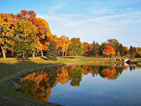 Autumn Reflections by Greg Belfrage
