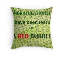 WA Red Bubble Banner Entry # 2 Throw Pillow