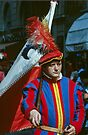 Flagbearer, C16 Costume Parade Florence Italy 19840708 0036 by Fred Mitchell