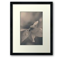 Your Fingers Brush My Cheek Framed Print