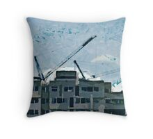 Living in a Box Throw Pillow
