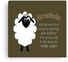 Yarnaholic lamb Canvas Print