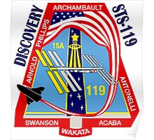 STS-119 Discovery Mission Logo Poster