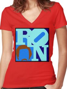 Ron Love Women's Fitted V-Neck T-Shirt
