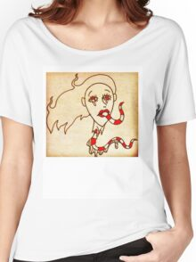 Down the Lips, Out the Throat.  Women's Relaxed Fit T-Shirt