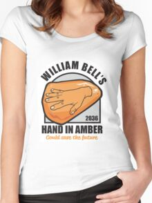 Hand In Amber Women's Fitted Scoop T-Shirt