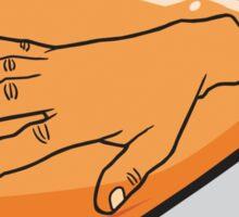 Hand In Amber Sticker