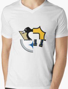 Pittsburgh Team Quarters Mens V-Neck T-Shirt