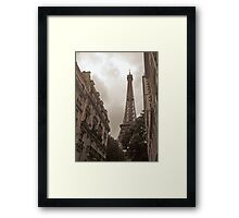 Eiffel Tower in Neighborhood Framed Print