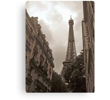 Eiffel Tower in Neighborhood Canvas Print