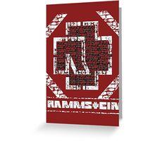 Rammstein - Steinmauer Greeting Card