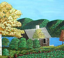 Cottage At The Lake by TriciaCurry