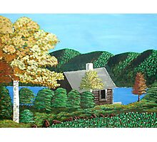 Cottage At The Lake Photographic Print