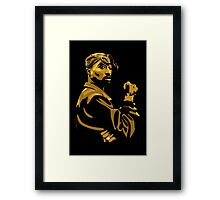 Tupac Vector for prints Framed Print