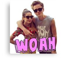 Zoe and Joe Sugg Canvas Print