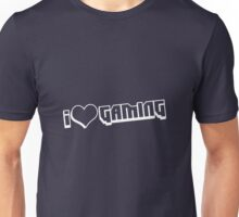 I love Gaming Bit white Unisex T-Shirt