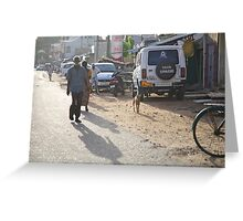 ruralscapes #153, early morn dusty street Greeting Card