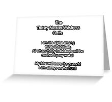 Thristy Master/Mistress  Oath Greeting Card