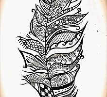Feather Doodle by Holly-Marie