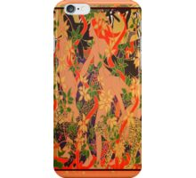 Goddess of The Hunt In Ornate Gold Border iPhone Case/Skin