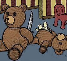 Teddy Bear And Bunny - Who Me? by Brett Gilbert