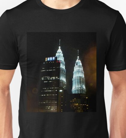 Night time Petronas Towers Kuala Lumpur Malaysia T-Shirt