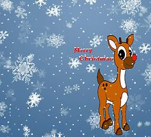 Merry Christmas - Rudolph by missmoneypenny