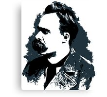 Friedrich Nietzsche portrait vector drawing  Canvas Print
