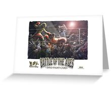 Dino Battle of the Ages Greeting Card