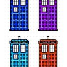 Tardis pop art iphone case by EleYeah