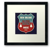 Vintage New Orleans Blues  Framed Print