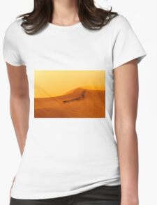 Red Desert Sand Dune.  Womens Fitted T-Shirt