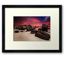 Cabana Sunrise Framed Print