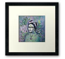 Magical Girl Frida Framed Print