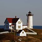 The Nubble Lighthouse - York, ME - in the evening sun by Bine